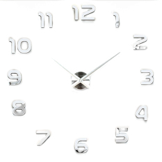 Retail Modern Simple Style Diy Large 3D Wall Sticker Time Clock For Home Office Decoration