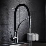 Buy Modern Single Handle Solid Brass Kitchen Sink Faucet Pull Down Sprayer Deck Mount Mixer Tap Kitchen Swivel Faucets Chrome Finish Intl China
