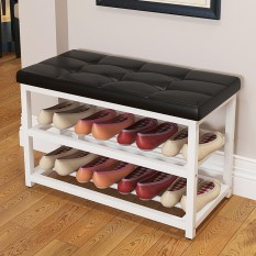 Modern Sofa Stool Bench Shoe Storage Rack - intl