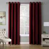 Modern Solid Color Red Blackout Curtain Window Curtains For Living Room 140Cmx240Cm Review