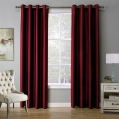 Best Rated Modern Solid Color Red Blackout Curtain Window Curtains For Living Room 140Cmx240Cm