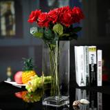 Price Modern Square Transparent Glass Vase Online China