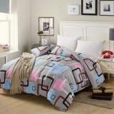 Coupon Modern Style Quilt Cover Single Double King Size Simple Grid Pattern Duvets Cover Soft And Comfortable Grid Intl