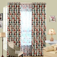 Modern Triangle Blackout Curtains Room Balcony Window Blinds Panel Divider (EXPORT)