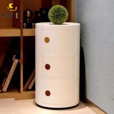 Buy bedside tables bedroom furniture lazada morden bed side tablecircular storage case all white watchthetrailerfo