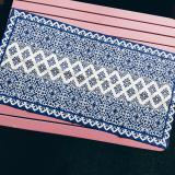 Where To Shop For Moroccan Blue White Table Runner Dark Blue