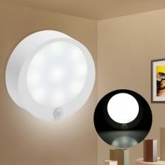 Motion Sensor 9 LED Battery Operated Wireless Night Light Closet Lamp White    Intl Singapore