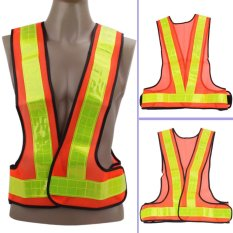 Multi Adjustable Outdoor Safety Visibility Reflective Vest Gear Stripes - Intl By Sportschannel.