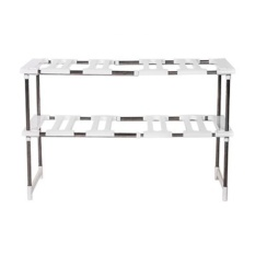 Multi-function adjustable sink storage rack shelf stainless steel kitchen pan storage rack