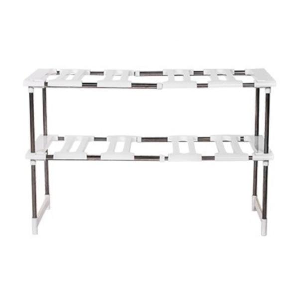 Multi-function adjustable sink storage rack shelf stainless steel kitchen pan storage rack