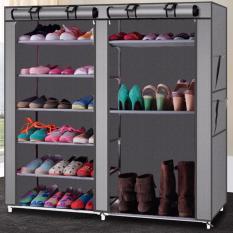JIJI Multi-Functional DIY Shoe Rack Tiers (Colour: Coffee/Red/Silvery Grey - 6 Tiers Design) - Shoe Organizers / Storage Organization / Racks (SG)