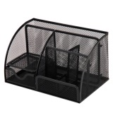 How To Buy Multi Functional Home Office Desk Black Metal Mesh Supplies Stationery Pen Storage Organizer Holder Stand Intl