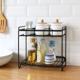 Sale Multi Functional Iron Double Layer Storage Shelf Kitchen Condiment Spice Seasoning Jar Organizer Bathroom Shelf Accessory Jjcf133 Intl Oem Wholesaler