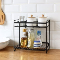 Price Multi Functional Iron Double Layer Storage Shelf Kitchen Condiment Spice Seasoning Jar Organizer Bathroom Shelf Accessory Jjcf133 Intl Oem New