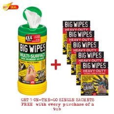 Cheapest Multi Surface 4X4 Big Wipes 80S Tub