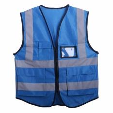 Multicolor Hi-Vis Safety Vest Reflective Jacket Security Waistcoat 5 Pockets - Intl By Kingstones.