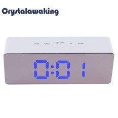 Multifunction Digital Mirror LED Mirror Clock Alarm with Temperature Snooze (White) - intl