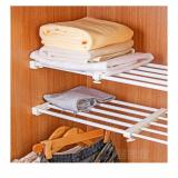 Multifunctional Adjustable Scalable Layered Separator Wardrobe Storage Partition Rack Retractable Nail Free Shelf Compartment Kitchen Cabinet Length 22 To 37 Adjustable Shopping