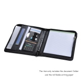 Buy Multifunctional Professional Business Portfolio Padfolio Folder Document Case Organizer A4 Pu Leather Zippered Closure Loose Leaf Loop With Caculator Business Card Holder Memo Note Pad Intl