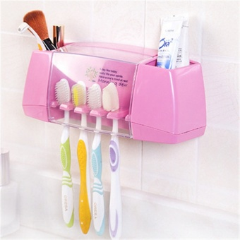 Compare Prices For Multifunctional Toothbrush Racket Holder Storage Box Bathroom Makeup Accessories Products Sets Suction Hooks Kitchen Holder Intl