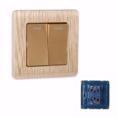 MumoLife Home Switches C60 Classical Art Gold 16A 250V 2 Gang 2 Way Switch - intl Singapore