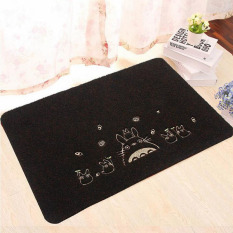 Buy My Neighbor Totoro Pattern Non Slip Floor Mat Kitchen Carpet Water Absorption Toilet Rugs Porch Entrance Doormat Black 50X80Cm Oem Cheap