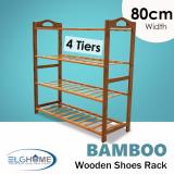 Natural Bamboo General 4 Tiers Shoe Rack 80Cm Width Shop
