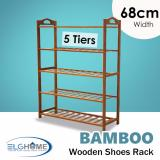 Price Natural Bamboo General 5 Tiers Shoe Rack 68Cm Width Singapore