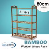 Discount Natural Bamboo General 5 Tiers Shoe Rack 80Cm Width Elg Home On Singapore