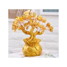 Natural Gemstone Jade Crystal Lucky Fortune Feng Shui Tree Fengshui Wealth Tree - Chinese Money Coins