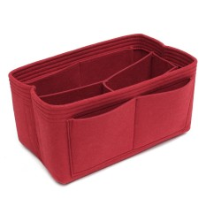 Neat felt bag organizer for Louis Vuitton Speedy 30 and 25(red 12x17.5x26cm) - intl