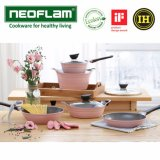 Price Comparison For Neofram Ih Primium Ecoleon Ceramic 5 Pot Set Pink Available In Induction Made In Korea Cooking Pots Available In The Oven Wok Fring Pan Grill Pans Intl