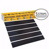 Who Sells New 1 Magnetic Tape Extra Strong Premium Grade Magnet Strips With 3M Adhesive Backing For Walls Boards Crafts Storage Diy Home Garage Displays Heavy Duty Thicker Roll 32Mm Wide 5 Pack Cheap
