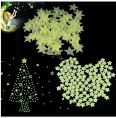 Purchase New 100 Pcs Home Wall Glow In The Dark Star Stickers Decal Baby Kids Gift Nursery Room Online