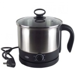 Cheaper New 1 6L Stainless Steel Electric Cooking Pot With Separable Base Silver Intl