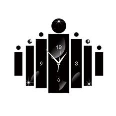 New Acrylic Technology Digital Wall Clock Mirror Living Room Quiet Clock - intl