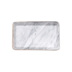 Price European And American Style Porcelain Marble Pattern Tray With Golden Edge Online China