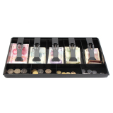 Review New Cash Coin Register Insert Tray Replacement Money Drawer Storage Black Intl China