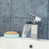 Price New Chrome Brass Waterfall Bathroom Basin Faucet Single Handle Sink Mixer Tap Intl Not Specified