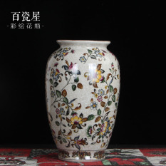 Neo-Classical Top Grade European Style Chinese Style Ceramic Vase Decoration Flower Container Crack Living Room Vintage Wine Cabinet Antique Shelf