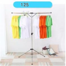 Best Price ❤New Concept T Shaped Retractable Laundry Clothes Drying Rack Space Saving Stainless Steel