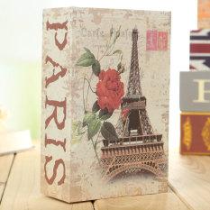 NEW Dictionary Book Secret Safe Security Key Lock Money Cash Jewellery Box Eiffel Tower