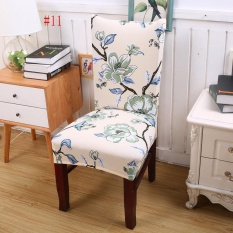 New Floral Print Chair Covers Home Dining Multifunctional Spandex Seat Covers Chair Cover 11# - intl