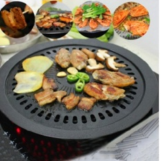 New Korean Non Stick Barbeque Pan Meat Grill Dish Yakiniku Bbq Plate Cooking Tool Intl On China