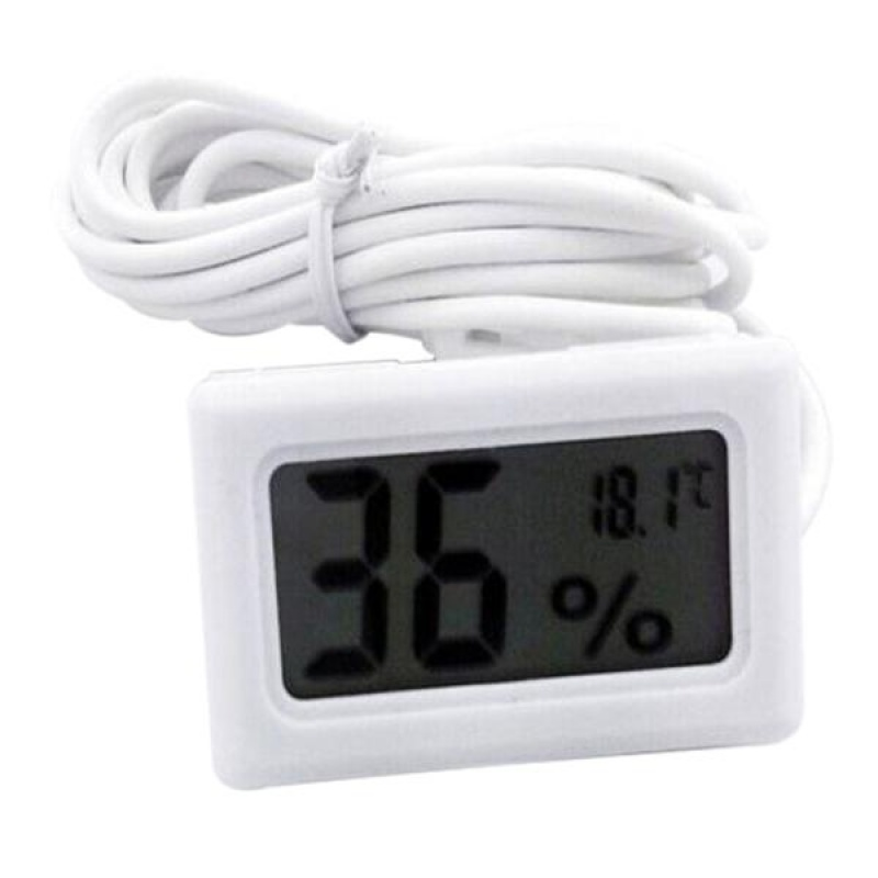 New LCD Digital Embedded Thermometer Hygrometer for Incubator Poultry Reptile - intl