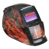Cheap New Pro Welding Grinding Auto Darkening Mask Arc Tig Mig Solar Powered Helmet Flame Pattern