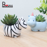 New Style Small Natural More Meat Potted Deer Zebra Hippo Pots China