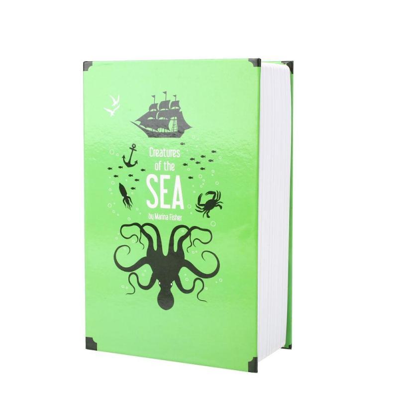 Newworldmall Security Case Storage Case Safe Box Stash Box Lightweight Universal Book Shape Metal Coins Passports