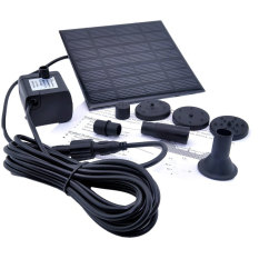 Compare Prices For Niceeshop 1 2 Watt Solar Power Water Pump Garden Fountain Submersible Pump Black