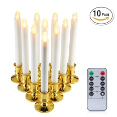 Sale Niceeshop 10Pcs Electronic Candle Window Candles Led Electric Candle Lights With Remote Timers Battery Operated Forf Festival Wedding Christmas Window Candles Intl China